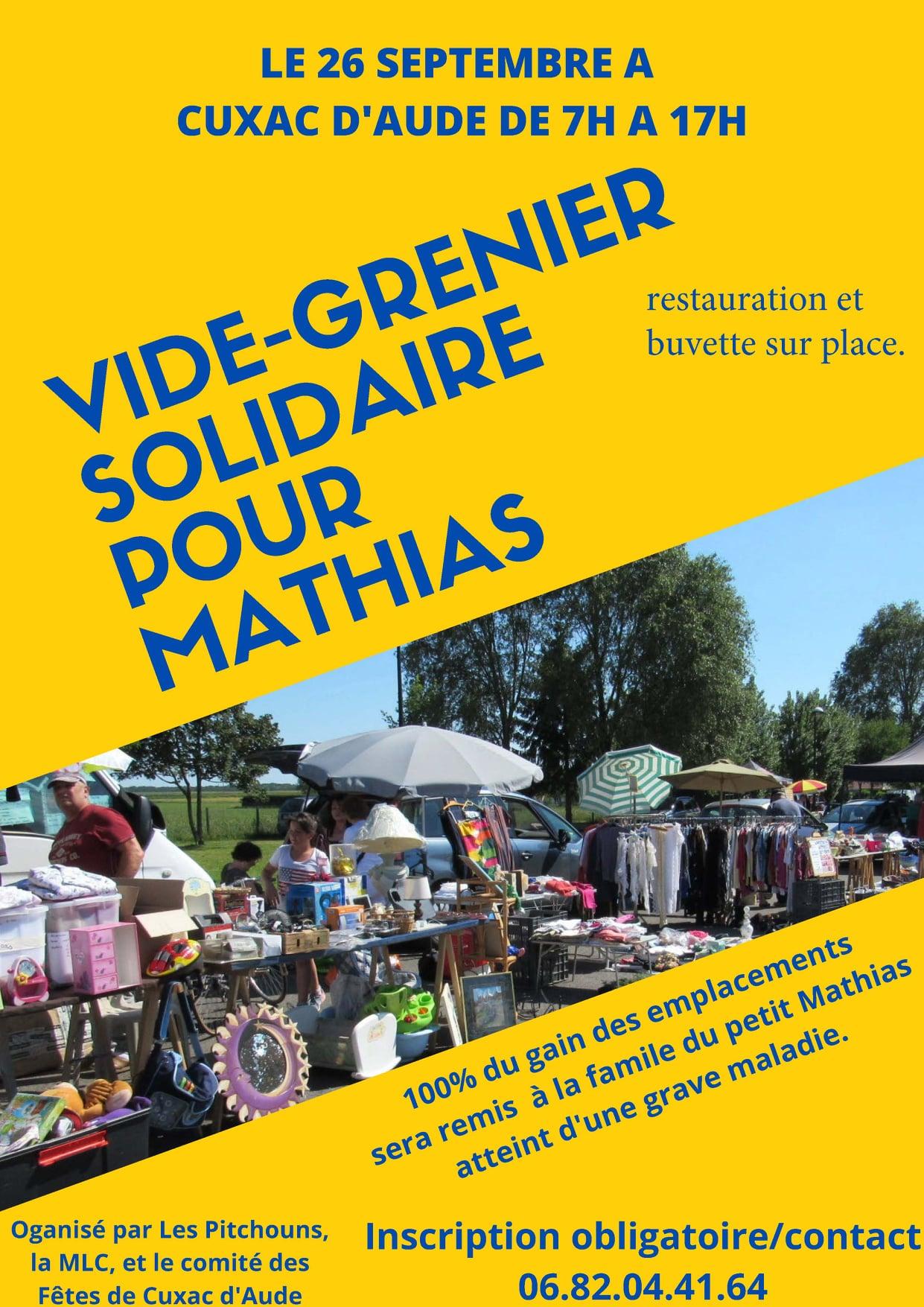 Vide grenier Pour Mathias